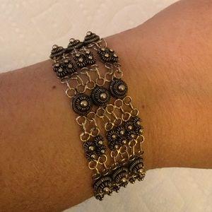 Jewelry - Taxco Sterling Silver Bracelet vintage boho vtg